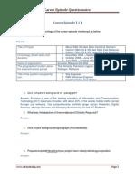 CDRAusralia Questionnaire 1