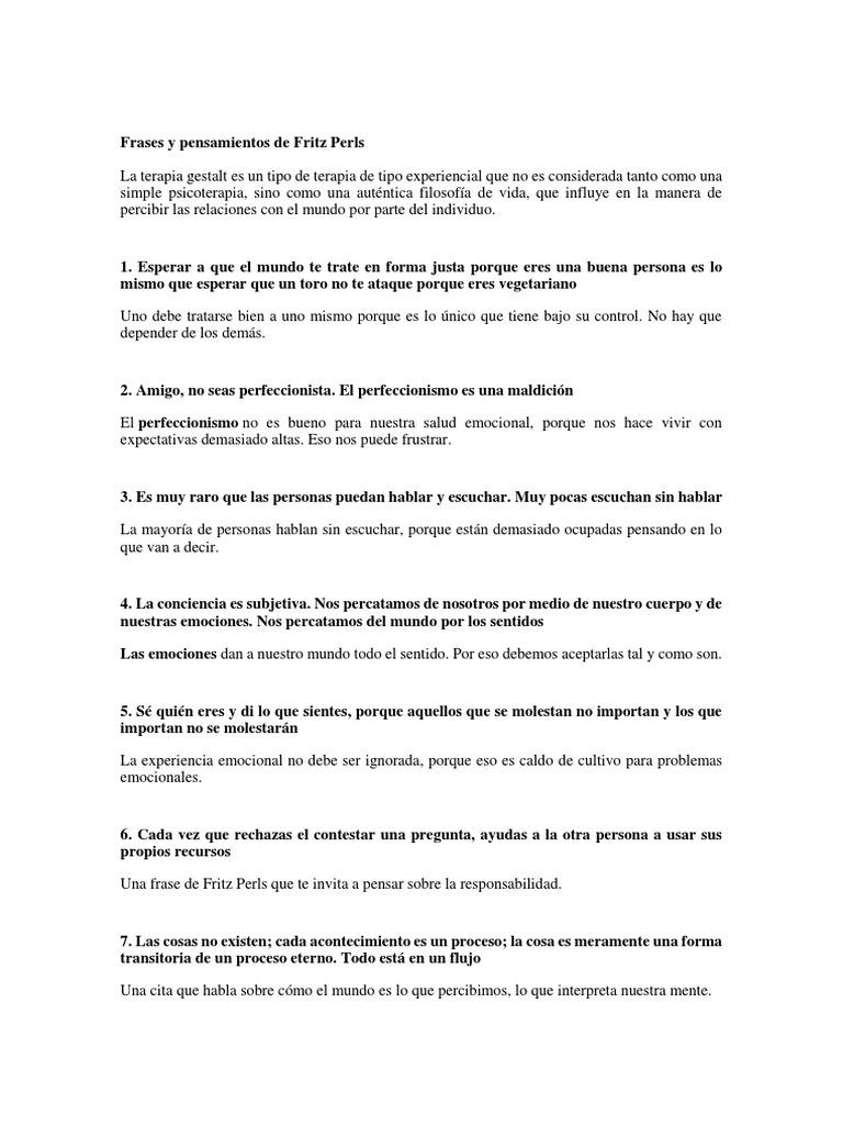 Frases Y Pensamientos De Fritz Perls
