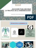 Recomendaciones Practica Anestesiologia