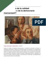 Sinpermiso-Indicadores de La Calidad Democratica o de La Democracia Mainstream