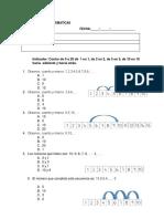 Prueba Matematicas Mayo 1º Basico