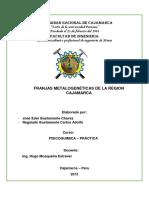Franjas Metalogeneticas - Practica