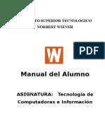 Tecnologia de Computadoras e Informacion