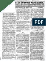 1832 Gaceta de La Nueva Granada - Bogotá Año de 1843