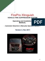 Tài liệu của hệ thống chữa cháy cho xe