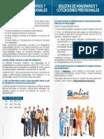Boletas de Honorarios y Cotizaciones Al 10.01.2012