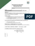 Prueba de Diagnostico Quimica 2 bgu