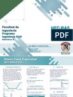 HEC RAS Diseño Canal Trapezoidal (Edgar O. Ladino M.)