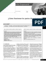 COMO FUNCIONAN LOS PACTOS DE ACCIONISTAS