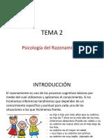 Tema 2. Psicologia Del Razonamiento Diapositivas Esquema