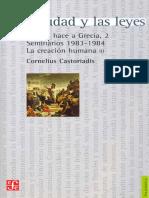 03.Castoriadis, C. - La Ciudad y Las Leyes (Frag)