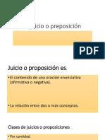 El Juicio o Preposición