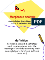 Vocabulary Morphemic Analysis Baker Haney Harris Haney