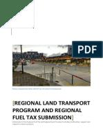 Regional Land Transport Program and Regional Fuel Tax Submission