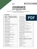 Brochure Assurance Gold Mastercard