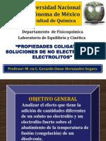Propiedades Coligativas de Soluciones de Electrolitos y No Electrolitos