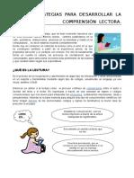 DESARROLLAR LA COMPRENSI+ôN LECTORA-A