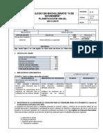 Plan Anual de Educación Para La Ciudadania 2do Bachillerato 2014