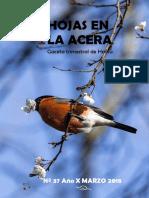 Hojas en La Acera Nro 37 Cuaderno de Campo