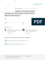 Tool Path Planning for Investment Casting of Funct