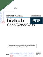 Konica Minolta Bizhub c203 c253 c353 Service Manual Free