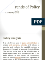 Trends in Policy Analysis