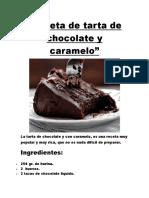 Receta de Tarta de Chocolate y Caramelo