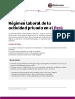 Regimen Laboral Peru