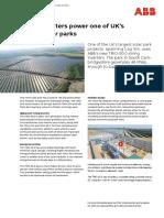String Inverters Power Onr of UK's Largest Solar Parks
