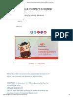 Mahindra Reasoning Questions _ Reasoning Test for Mahindra