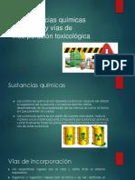 5.2 Sustancias Quimicas Peligrosas y Vias de Incorporacion Toxicologicas