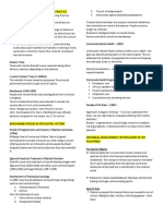 (1) Overview of Psychiatric Nursing Practice