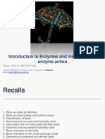 Introduction to Enzymes and Mechanism of Enzyme Action