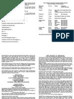 notice sheet 29th april 2018