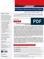 2018 SI Call for Papers