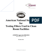 American National Standard for Filters Used In