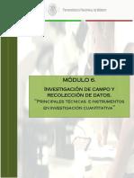 6.3 Tecncas e Instrumentos Investigación Cuantitativa