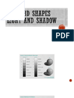 Basic 3d Shapes Light and Shadow