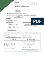 Formulario Certamen 1 Geo