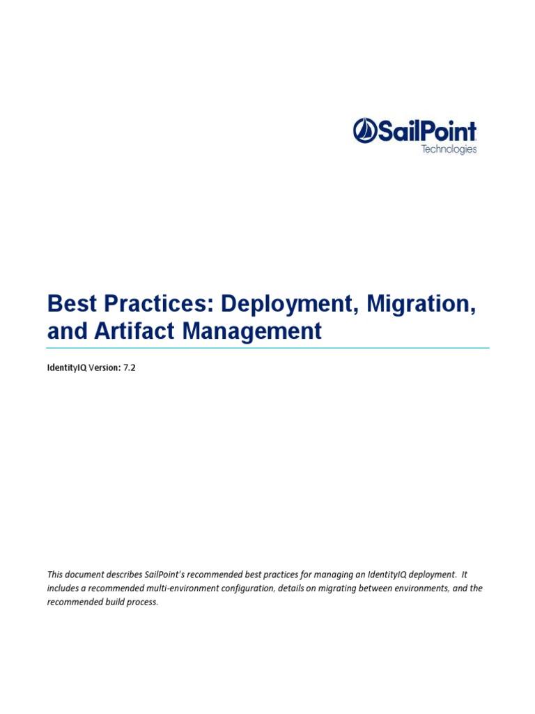 Deployment Best Practices72 | Version Control | Business Process
