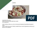 Salada de Meloa e Presunto Com Feta