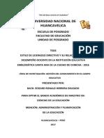 TESIS ESTILO DE LIDERAZGO DIRECTIVO