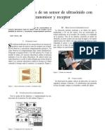 Caracterısticas de un sensor de ultrasonido con transmisor y receptor