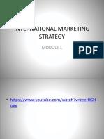 Module 1- International Marketing