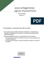 Fármacos Antagonistas Colinérgicos Muscarínicos