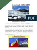 Región Janca o Cordillera