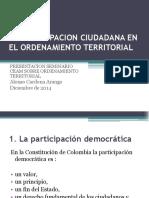 La Participacion Ciudadana en El Ordenamiento Territorial