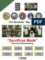 Cherokee Veteran Community Newsletter May 2018 Memorial Day