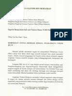 Surat Kepada Panglima Angkatan Tentera Malaysia