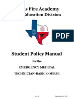 EMT Student Policy Manual